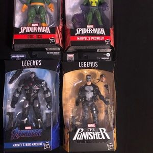 Marvel Legends Punisher, Prowler, Doc Oc